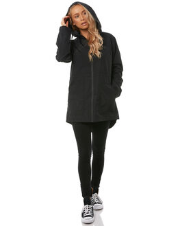 BLACK WOMENS CLOTHING VOLCOM JACKETS - B1511875BLK