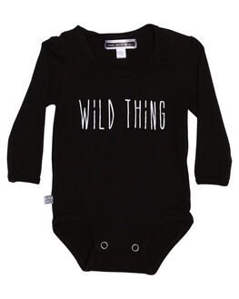 BLACK KIDS BABY SWEET CHILD OF MINE CLOTHING - LSWILDTHINGONSBLK