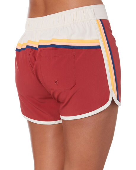 MAROON WOMENS CLOTHING RIP CURL SHORTS - GBOAR94370