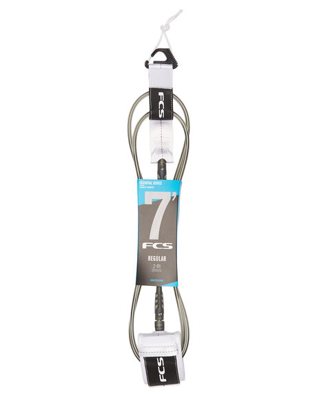 WHITE SURF HARDWARE FCS LEASHES - 2020-WHT-07FWHT