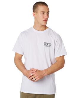 WASHED WHITE MENS CLOTHING MISFIT TEES - MT091002WASHW