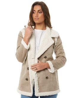 SAND IVORY WOMENS CLOTHING LILYA JACKETS - SHJK03-CHLAW18SDIVR