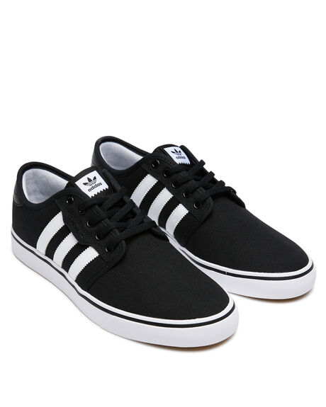 BLACK WHITE MENS FOOTWEAR ADIDAS SNEAKERS - F37427BLK