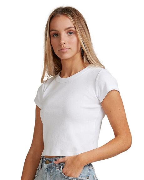 WHITE WOMENS CLOTHING BILLABONG TEES - BB-6503176-WHT