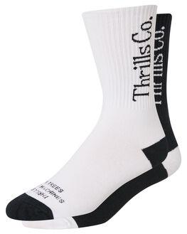 BLACK WHITE MENS CLOTHING THRILLS SOCKS + UNDERWEAR - TS8-1001BLKWH