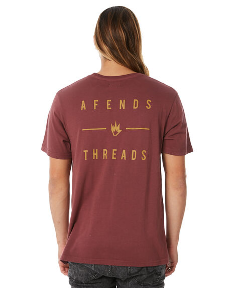 OXBLODD MENS CLOTHING AFENDS TEES - M183010OXBLK