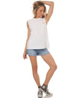WHITE WOMENS CLOTHING RVCA SINGLETS - R271010WHT