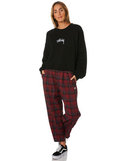 BLACK WOMENS CLOTHING STUSSY JUMPERS - ST196316BLK