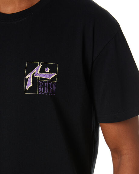 BLACK MENS CLOTHING RUSTY TEES - TTM2496BLK