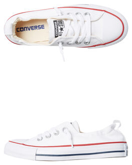 WHITE WOMENS FOOTWEAR CONVERSE SNEAKERS - 537084WHI