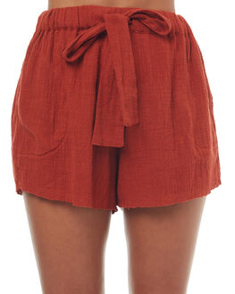 RED RUST WOMENS CLOTHING RUE STIIC SHORTS - SO1723YREDR