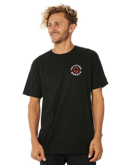 BLACK MENS CLOTHING SPITFIRE TEES - CBHTEEBLK