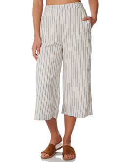 WHITE BLUE STRIPE WOMENS CLOTHING ALL ABOUT EVE PANTS - 6423010STR