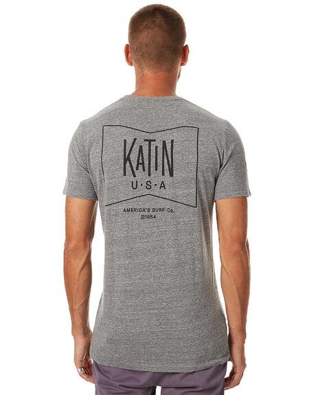 HEATHER GREY MENS CLOTHING KATIN TEES - TSGRUH16HGRY