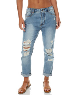 THRIFTED BLUE WOMENS CLOTHING RUSTY JEANS - PAL1020THB