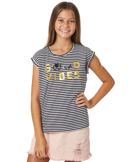 BLACK WHITE KIDS GIRLS EVES SISTER TOPS - 9920075STR