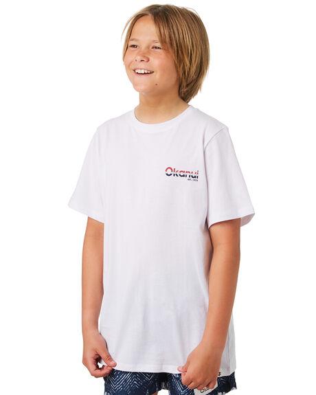 WHITE KIDS BOYS OKANUI TOPS - KSP19TS09WHT