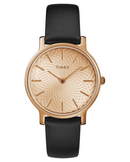 ROSE GOLD BLACK OUTLET WOMENS TIMEX WATCHES - TW2R91700RGDBK