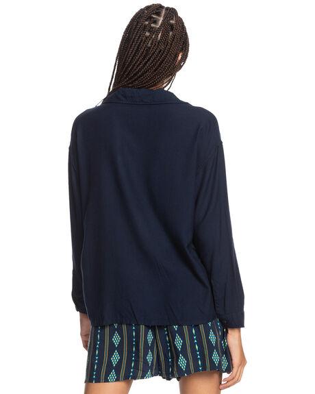 NAVY BLAZER WOMENS CLOTHING QUIKSILVER FASHION TOPS - EQWWT03060-BYJ0