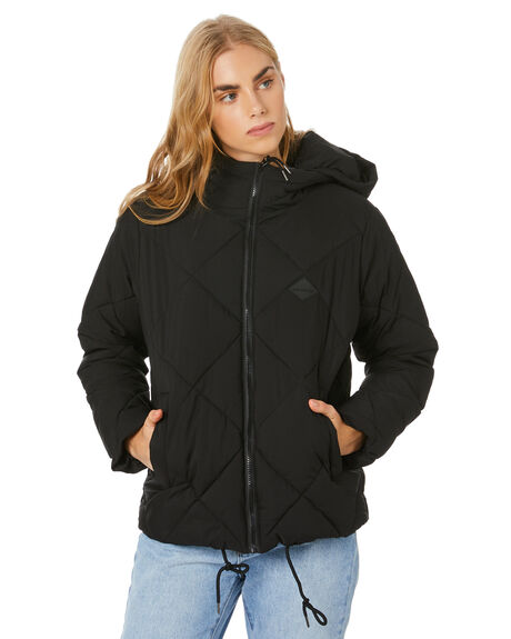 BLACK WOMENS CLOTHING RPM JACKETS - 20WW18ABLK