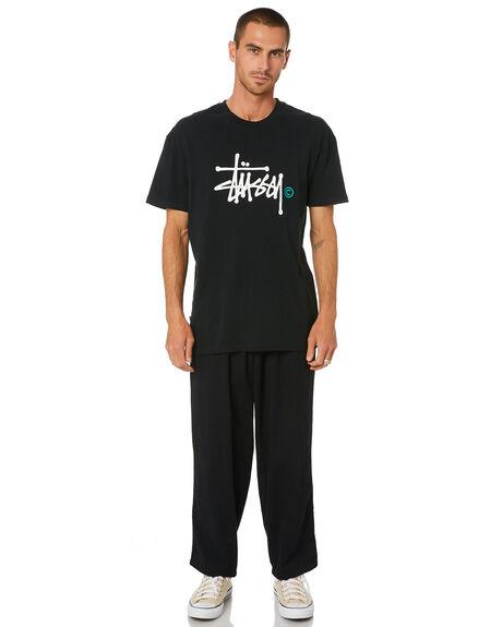 BLACK MENS CLOTHING STUSSY TEES - ST002012BLACK