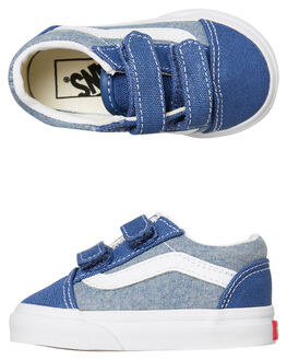 CANVAS NAVY KIDS BOYS VANS SNEAKERS - VNA344KVIOCTNVY