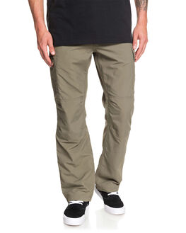 DUSTY OLIVE MENS CLOTHING QUIKSILVER PANTS - EQMNP03020-GPB0