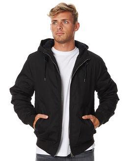 FLINT BLACK MENS CLOTHING ELEMENT JACKETS - 176457FBLK