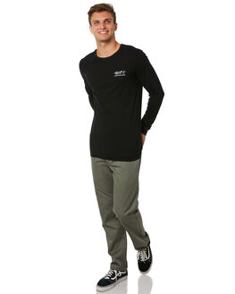 BLACK MENS CLOTHING RHYTHM TEES - JUL18M-PT09BLK