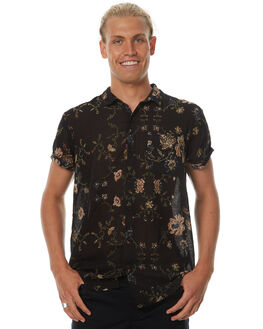 AUTUMN BLACK MENS CLOTHING ROLLAS SHIRTS - 201052713