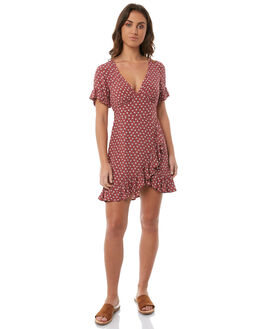 OLD ROSE WOMENS CLOTHING TIGERLILY DRESSES - T385405ORSE