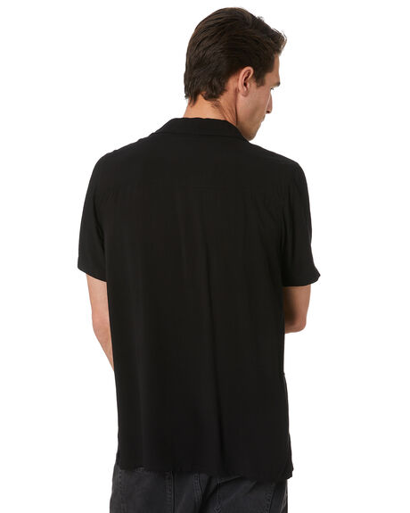 BLACK MENS CLOTHING THE PEOPLE VS SHIRTS - MASONBLK