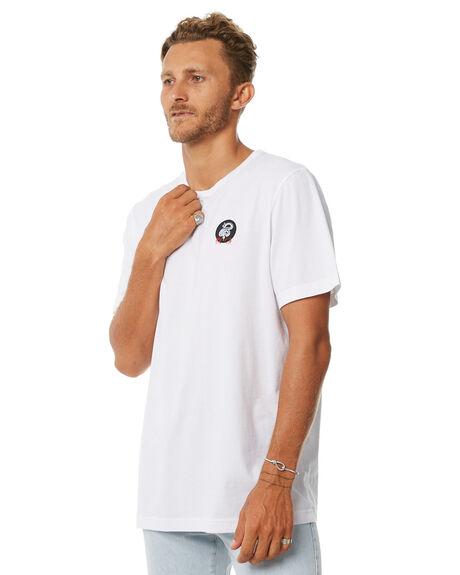 WHITE MENS CLOTHING RVCA TEES - R183047WHT