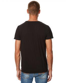 BLACK MENS CLOTHING NUDIE JEANS CO TEES - 131525BLK