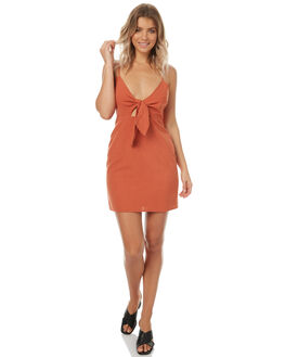 RUST WOMENS CLOTHING MINKPINK DRESSES - MB1706450RUST