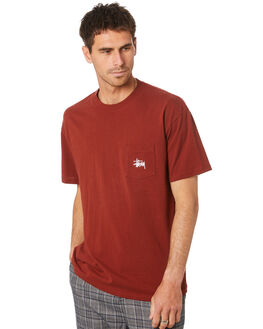BRICK MENS CLOTHING STUSSY TEES - ST007000BRICK