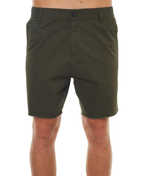 MOSS GREEN MENS CLOTHING ELEMENT SHORTS - 174362MOSS