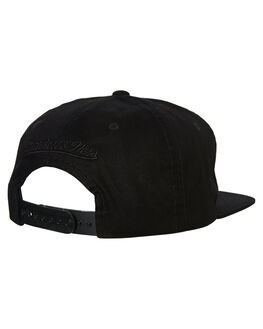 LAKERS BLACK MENS ACCESSORIES MITCHELL AND NESS HEADWEAR - MO18568BLK