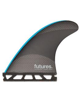 BLACK BLUE SURF HARDWARE FUTURE FINS FINS - JJM-010703BLKB
