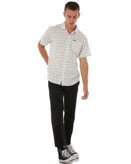 WHITE MENS CLOTHING BRIXTON SHIRTS - 01098WHBLK