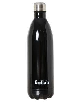SHINY BLACK MENS ACCESSORIES KOLLAB DRINKWARE - B-1L-BLK