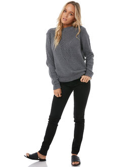 CHARCOAL HEATHER WOMENS CLOTHING ROXY KNITS + CARDIGANS - ERJSW03216KTAH