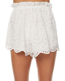 WHITE WOMENS CLOTHING ZULU AND ZEPHYR SHORTS - ZZ1655WHT