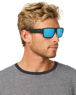 MATTE BLACK BLUE MENS ACCESSORIES CARVE SUNGLASSES - 3264MBLKB