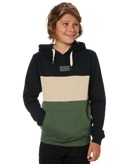 BLACK KIDS BOYS SWELL JUMPERS + JACKETS - S3213440BLK