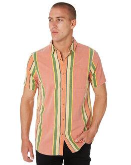 ORANGE STRIPE MENS CLOTHING ROLLAS SHIRTS - 156962886