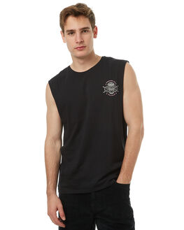 BLACK MENS CLOTHING HURLEY SINGLETS - AMSITDTSE00A