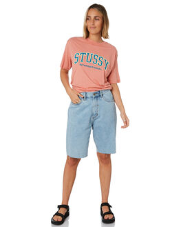 DUSTY PINK WOMENS CLOTHING STUSSY TEES - ST192005DPNK