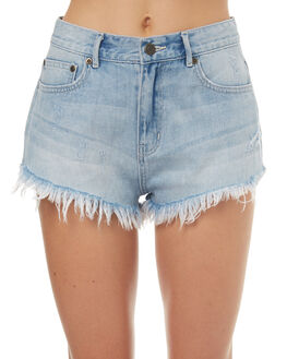 BLEACH OUTLET WOMENS THE HIDDEN WAY SHORTS - H8171234BLEAC