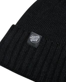 BLACK MENS ACCESSORIES SANTA CRUZ HEADWEAR - SC-MCB0624BLK